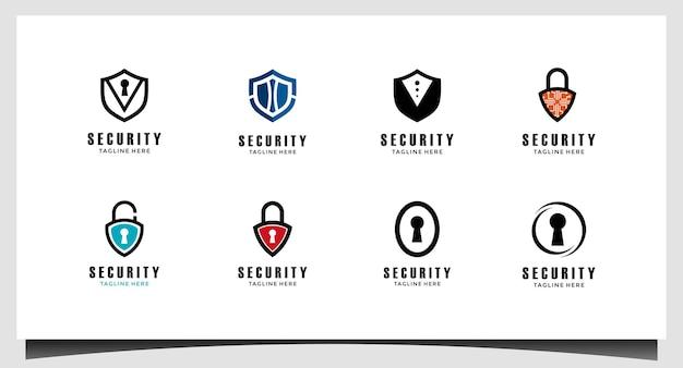 Scudo simbolo astratto del vettore di progettazione del logo di sicurezza