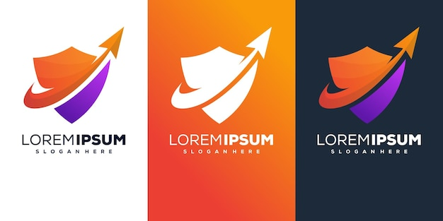 Design del logo con sfumatura di colore scudo