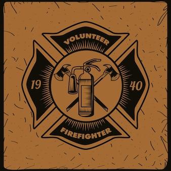 Scudo del volontario pompiere