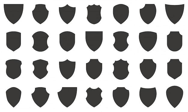 Collezione di icone di scudo.