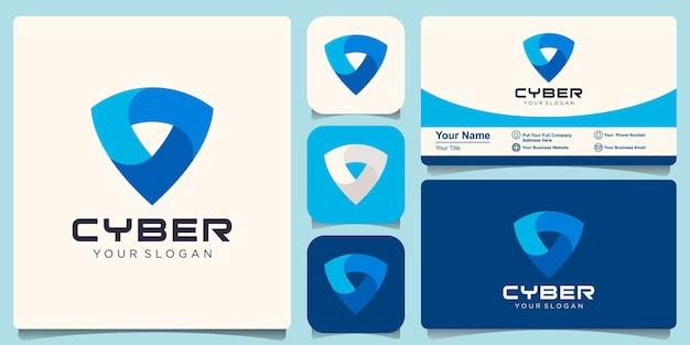 Scudo modello di progettazione del logo con concept design moderno