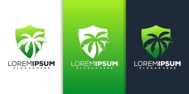 Scudo con design logo palm