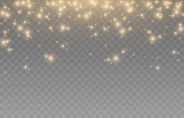 Shine effetto di luce luce dorata luce dal cielo luci scintillanti bagliori dorati