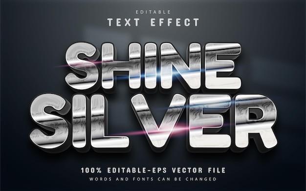 Effetto testo argento brillante