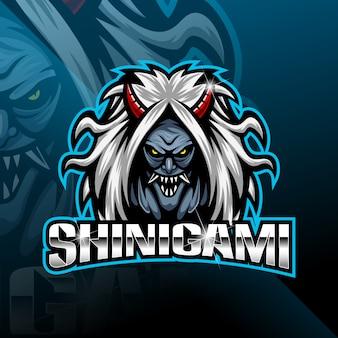 Logo della mascotte sport shinigami