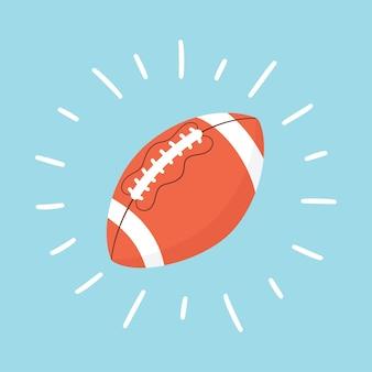 Sfera brillante di football americano. pallone da rugby. carta sportiva
