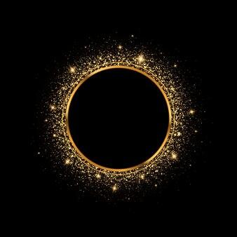 Cornice brillante con effetti di luce incandescente banner di lusso illustrazione vettoriale