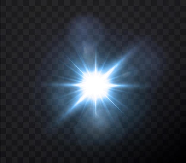 Brillanti stelle al neon isolati su sfondo nero