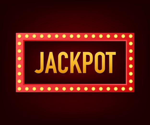 Brillante insegna retrò jackpot banner. banner in stile vintage illustrazione.