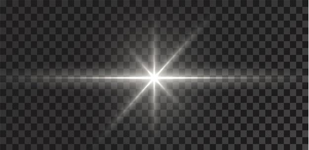 Stelle brillanti isolate su uno sfondo bianco trasparente effetti abbagliamento splendore esplosione bianco