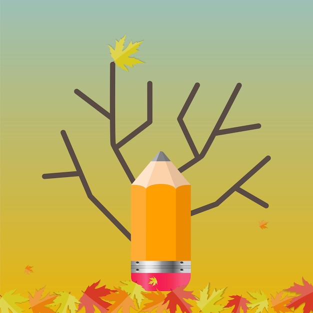 Fondo naturale dell'albero di autunno brillante. illustrazione di vettore. eps10