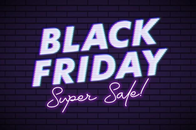 Lucido adesivo venerdì nero per la promozione