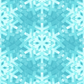 Modello senza cuciture dei fiocchi di neve blu brillante per natale desing
