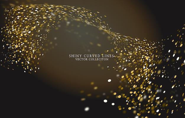 Fondo di arte dell'onda della curva di glitter lucido shin