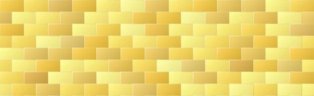 Modello senza cuciture del mattone di colore sfumato oro lucido