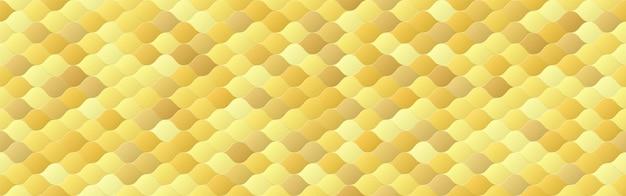 Oro lucido, fondo senza cuciture dell'onda di colore sfumato, lusso geometrico di linea, stile di design minimale