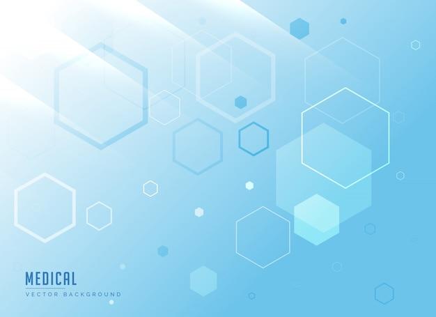 Molecole sfondo medico in vettore di colore blu