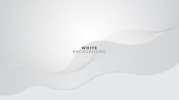 Sfondo bianco e grigio lucido con linee ondulate