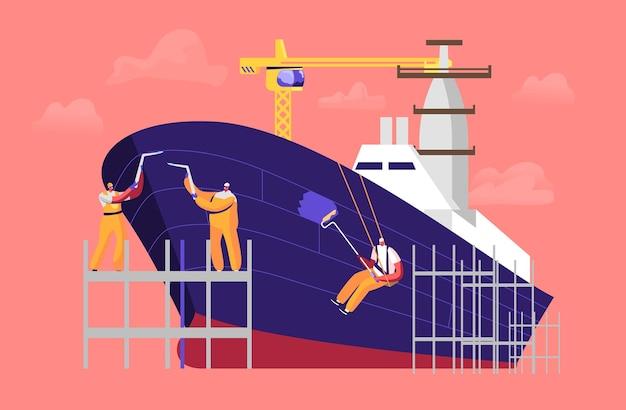 Illustrazione di costruzione navale