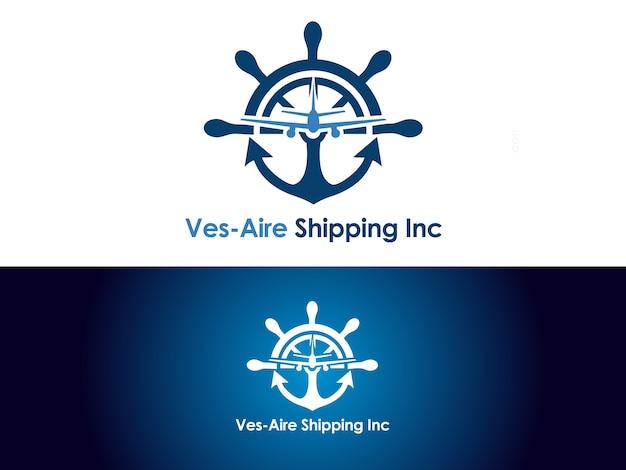 Design del logo aziendale di spedizione e carico