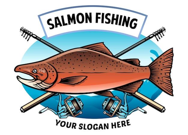 Design della camicia di pesca al salmone