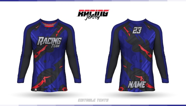 Modello di camicia, design della maglia da corsa, maglia da calcio