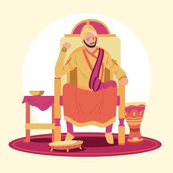 Concetto di illustrazione shivaji maharaja