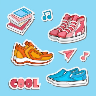 Design adesivo per scarpe