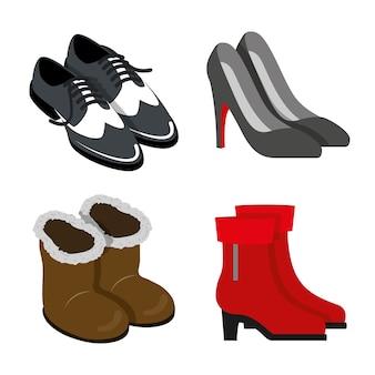 Scarpe calzature stivali moda body oggetto element flat