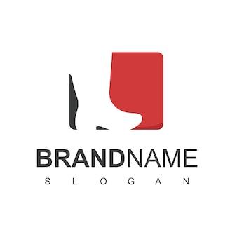 Scarpe logo design ispirazione uomo stivale simbolo