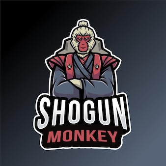Modello di logo della scimmia di shogun