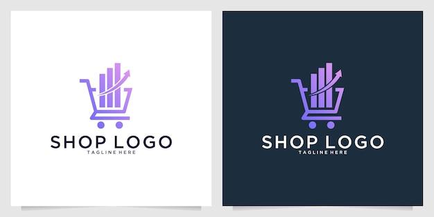 Acquista il design moderno del logo di investimento