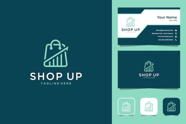 Acquista level up logo design e biglietto da visita