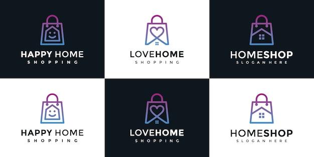 Insieme del modello di logo del negozio