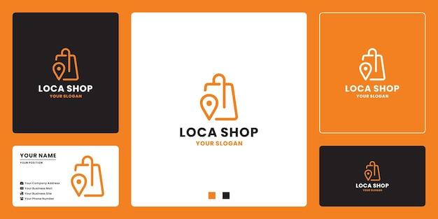 Design del logo della posizione del mercato del negozio