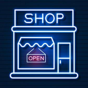 Acquista ora insegne al neon. pronto per il tuo design, biglietto di auguri, banner. illustrazione di vettore.