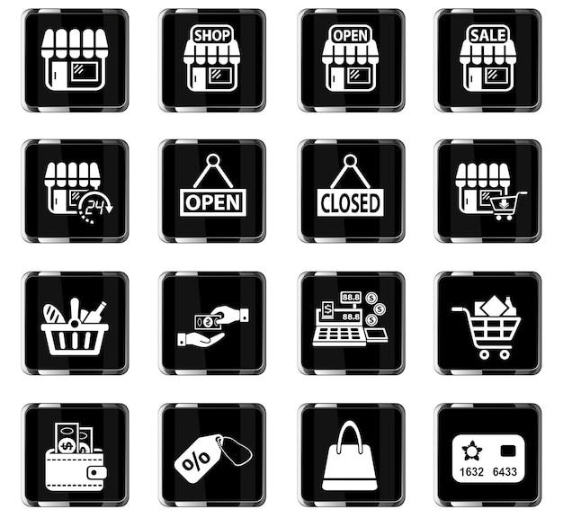 Acquista icone web per il design dell'interfaccia utente