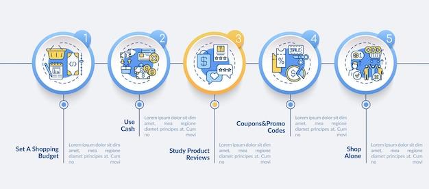 Modello di infografica consigli per lo shopping