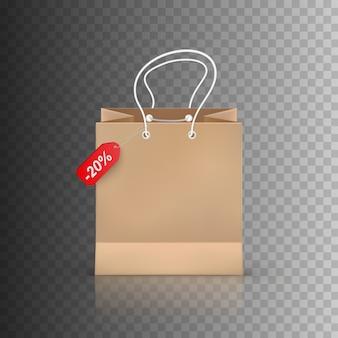 Shopping bag isolato su sfondo trasparente