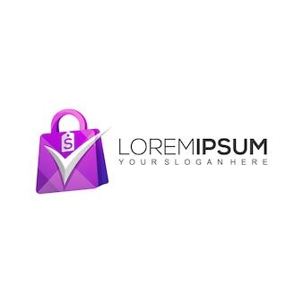 Modello logo borsa per la spesa online