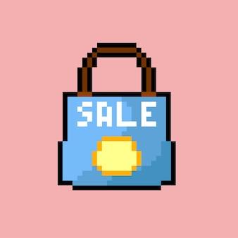 Shopping bag con stile pixel art