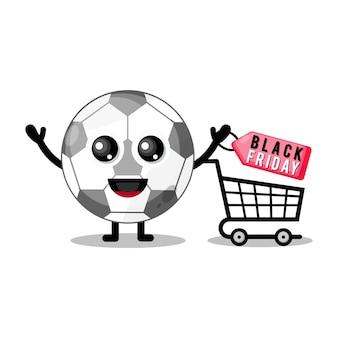 Shopping ball black friday mascotte simpatico personaggio