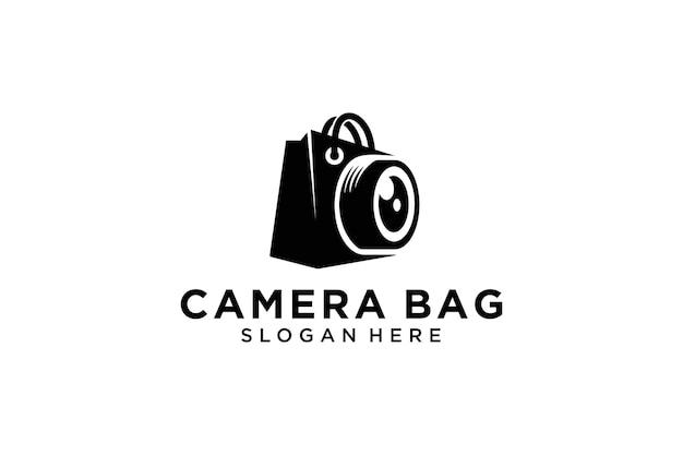 Shopping borsa per fotocamera vector logo design stock vector