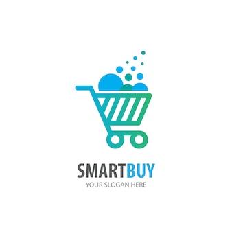 Logo del carrello della spesa per società di affari. design semplice dell'idea del logo del carrello della spesa. concetto di identità aziendale. icona del carrello creativo dalla collezione di accessori.