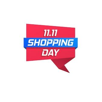Lo shopping day grande vendita poster volantino offerta speciale liquidazione promozioni aziendali miglior affare distintivo