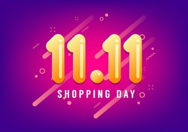 Vendita di giorno di shopping. vendita di giornata mondiale dello shopping globale.