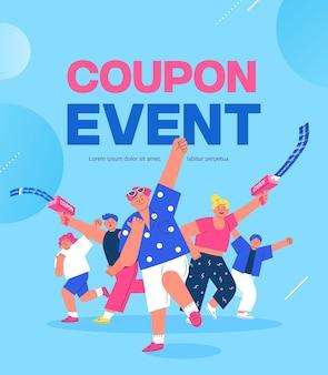 Illustrazione dell'evento di shopping banner