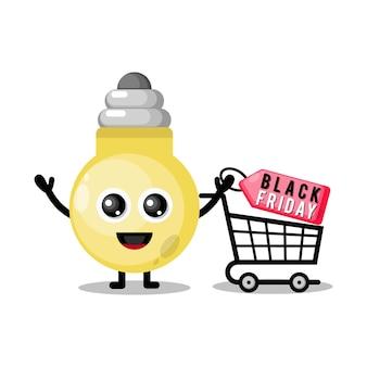Lampada da shopping venerdì nero simpatico personaggio mascotte