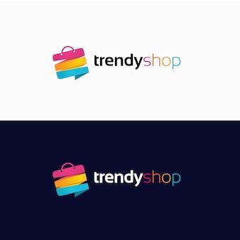 Progettazione del logo dello shopping