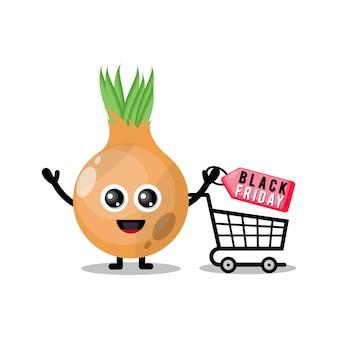 Shopping cipolla black friday mascotte simpatico personaggio